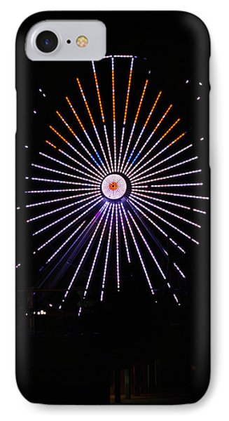 Ferris Wheel Santa IPhone Case by Greg Graham