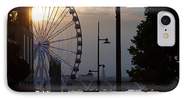 Ferris Wheel Sunset 1 IPhone Case