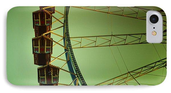 Ferris Wheel Vintage At The Octoberfest In Munich IPhone Case