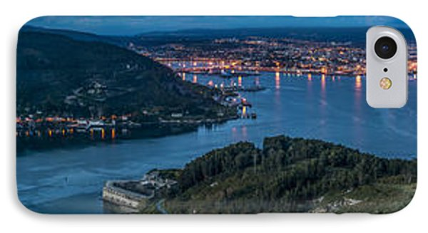 Ferrol's Estuary Panorama From La Bailadora Galicia Spain IPhone Case by Pablo Avanzini