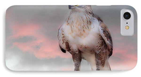 Ferruginous Hawk At Dusk IPhone Case