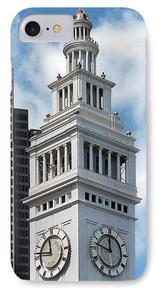 Ferry Building Clock Tower IPhone Case by Jo Ann Snover