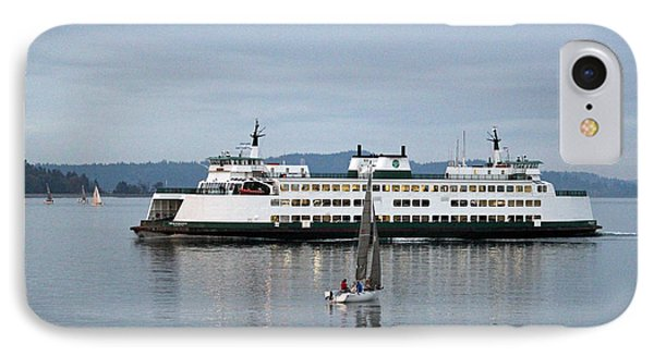 IPhone Case featuring the photograph Ferry Issaquah And Sailboats by E Faithe Lester