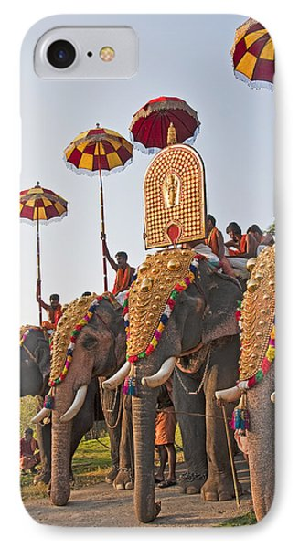 IPhone Case featuring the photograph Kerala Festival Elephants by Dennis Cox WorldViews
