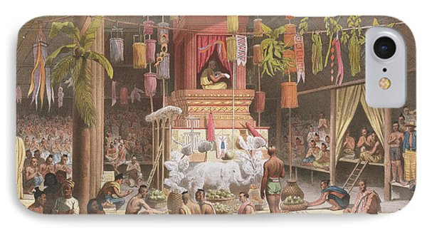 Festival In A Pagoda At Ngong Kair IPhone Case by Louis Delaporte