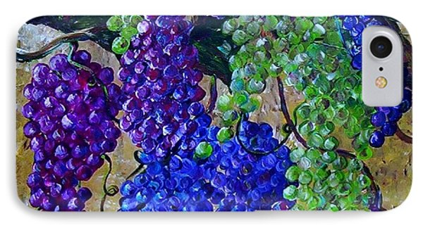 IPhone Case featuring the painting Festival Of Grapes by Eloise Schneider