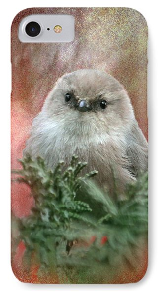 Festive Bushtit IPhone Case by Angie Vogel