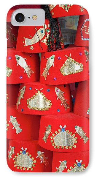 Fez Hat For Sale, Tunisia, North Africa IPhone Case