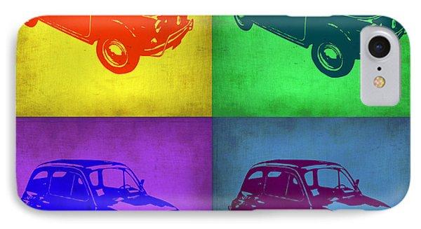Fiat 500 Pop Art 1 IPhone Case by Naxart Studio
