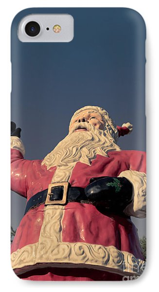 Fiberglass Santa Claus IPhone Case by Edward Fielding