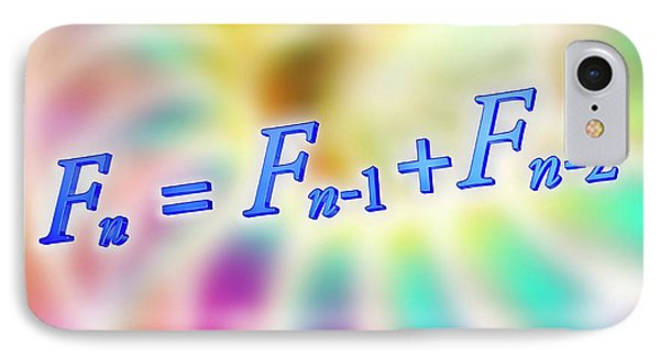 Fibonacci Sequence Equation IPhone Case by Alfred Pasieka