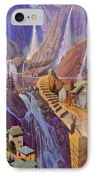 IPhone Case featuring the painting Fibonacci Stairs by Art James West