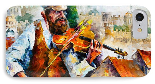 Fiddler  In Jerusalem 2 New IPhone Case by Leonid Afremov