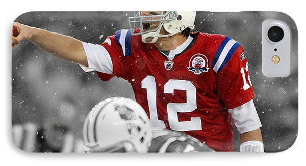Field General Tom Brady  IPhone Case by Brian Reaves