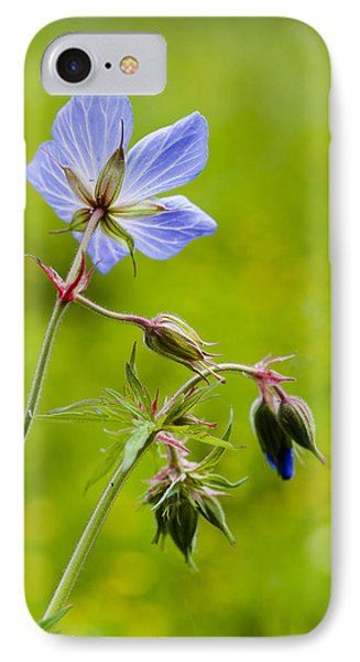 Field Geranium IPhone Case by David Isaacson