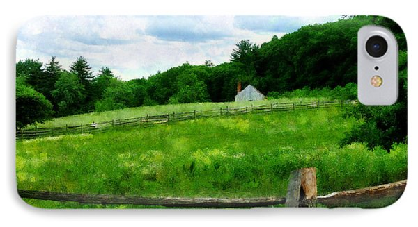 Field Near Weathered Barn Phone Case by Susan Savad