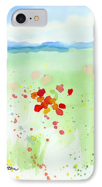 IPhone Case featuring the painting Field Of Flowers 2 by C Sitton