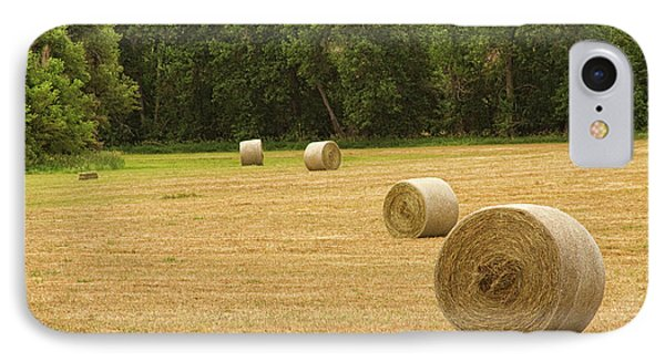 Field Of Freshly Baled Round Hay Bales Phone Case by James BO  Insogna