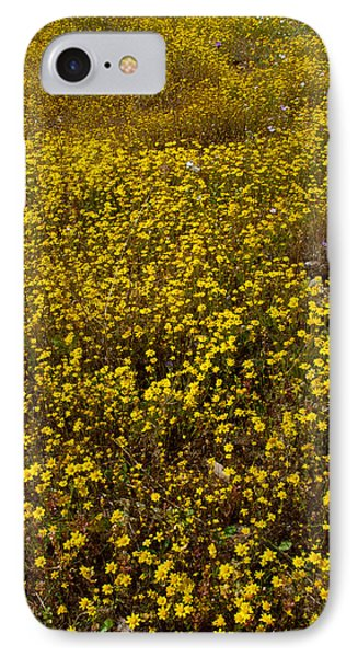 Field Of Goldfields In Park Sierra-ca Phone Case by Ruth Hager