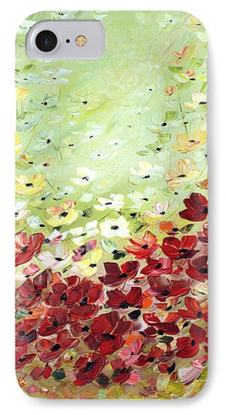 IPhone Case featuring the painting Field Of Poppies by Dorothy Maier