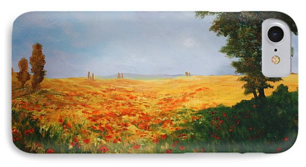 Field Of Poppies IPhone Case by Jean Walker