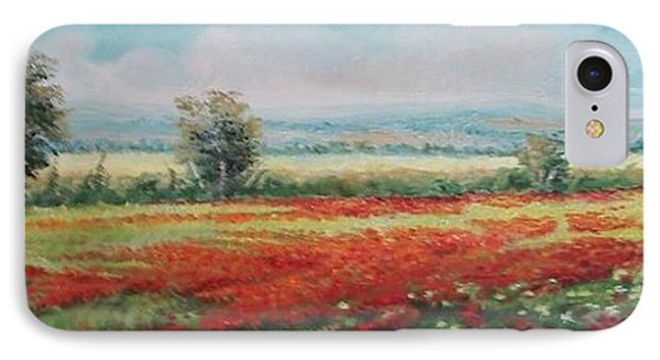 Field Of Poppies Phone Case by Sorin Apostolescu