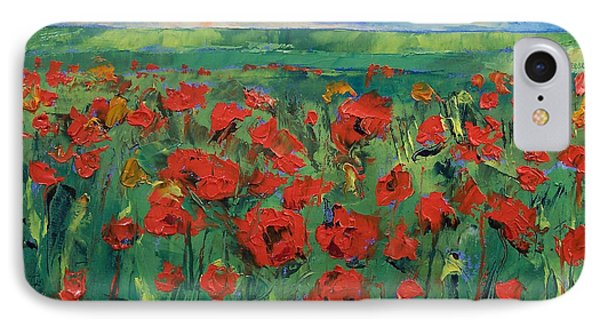 Field Of Red Poppies IPhone Case