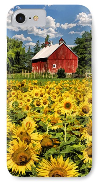 Field Of Sunflowers IPhone 7 Case by Christopher Arndt