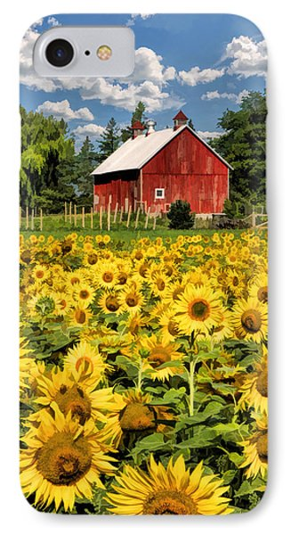 Field Of Sunflowers IPhone Case by Christopher Arndt