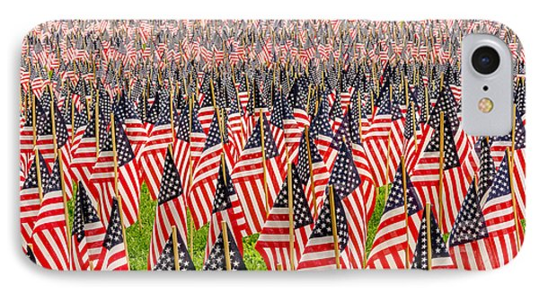 Field Of Us Flags IPhone Case by Mike Ste Marie