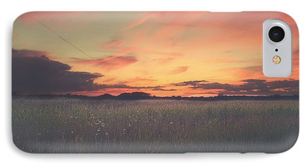Field On Fire IPhone Case by Carrie Ann Grippo-Pike