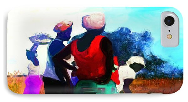 IPhone Case featuring the painting Field Women by Vannetta Ferguson