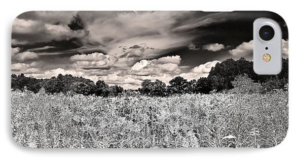IPhone Case featuring the photograph Fields Of Gold And Clouds by Mitchell R Grosky
