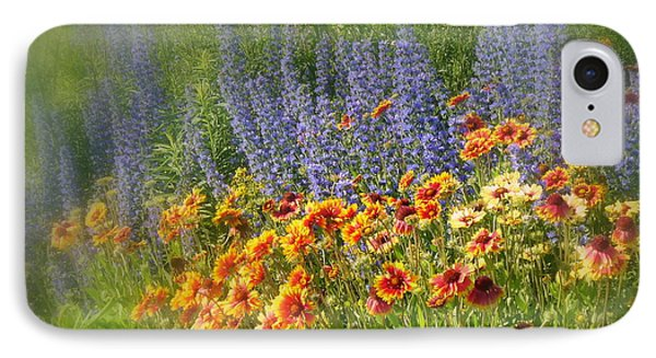 Fields Of Lavender And Orange Blanket Flowers Phone Case by Lingfai Leung