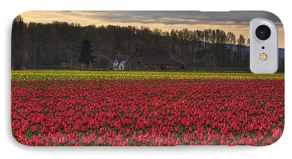 Fields Of Tulips IPhone Case by Mark Kiver