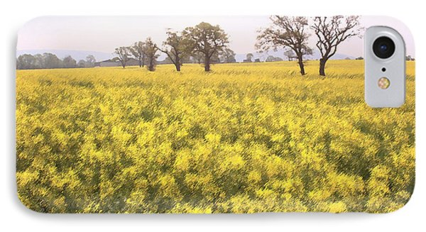 Fields Of Yellow IPhone Case by Ron Harpham