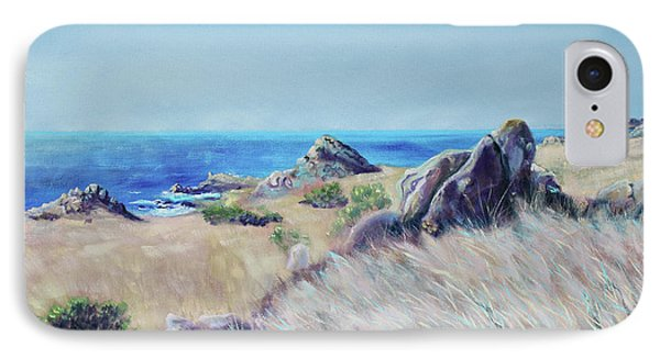 Fields With Rocks And Sea IPhone Case