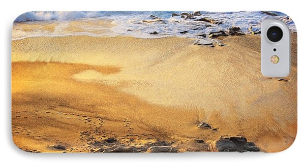 IPhone Case featuring the photograph Fiery Beach by Ellen Cotton