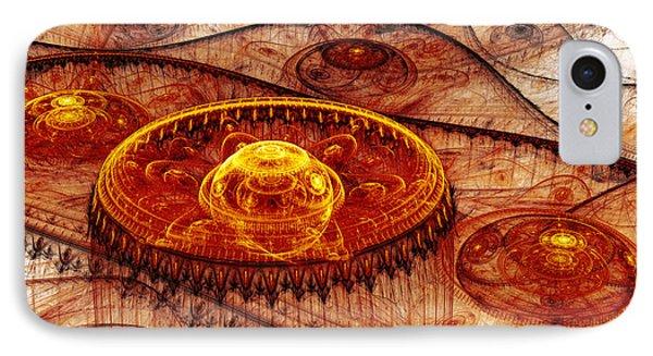 Fiery Fantasy Landscape Phone Case by Martin Capek