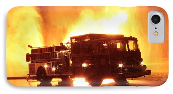Fiery Fire Truck IPhone Case by Jim Lepard