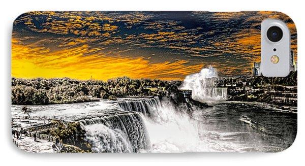 IPhone Case featuring the photograph Fiery Niagara Falls by Jim Lepard