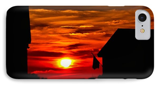 Fiery Outer Banks Sunset IPhone Case