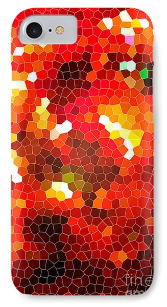 Fiery Red Stained Glass Phone Case by Gaspar Avila