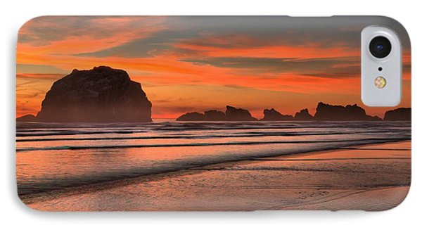 Fiery Ripples In The Surf Phone Case by Adam Jewell