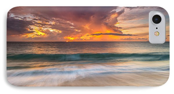 IPhone Case featuring the photograph Fiery Skies Azure Waters Rendezvous by Photography  By Sai