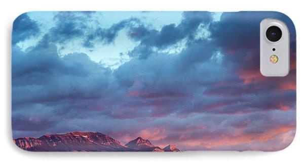 Fiery Sunrise Light Strike Choteau IPhone Case by Chuck Haney