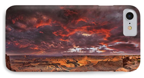 IPhone Case featuring the photograph Fiery Sunrise Over Dead Horse Point State Park by Sebastien Coursol
