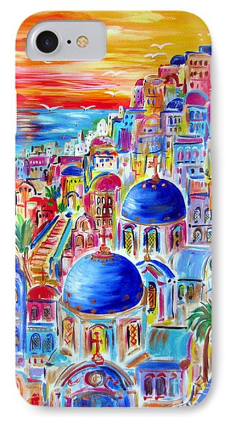 Fiery Sunset On Santorini My Way IPhone Case