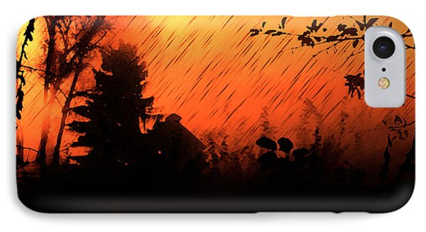 Fiery Sunset IPhone Case by Persephone Artworks