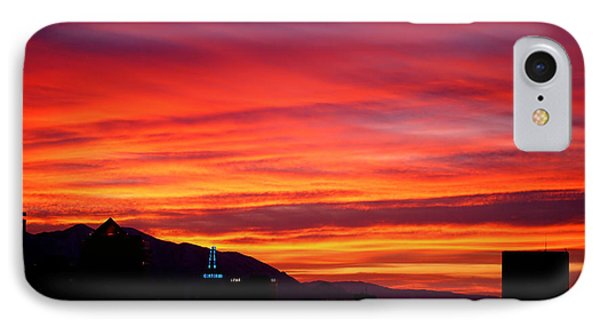 Fiery Sunset Phone Case by Rona Black